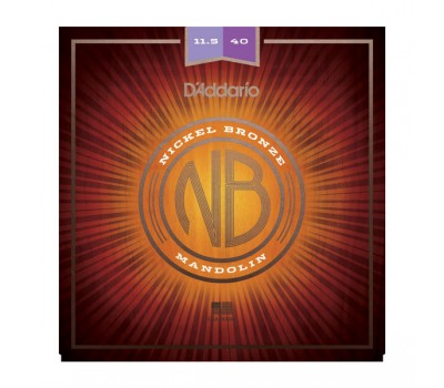NBM11540 Nickel Bronze Комплект струн для мандолины, фосф/бронза, Custom Medium, 11.5-40, D'Addario