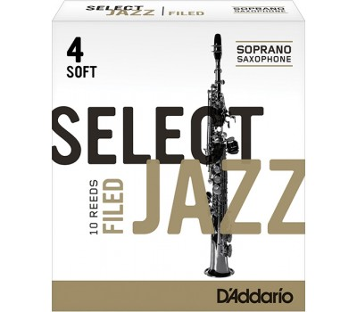 RSF10SSX4S Select Jazz Filed Трости для саксофона сопрано, размер 4 мягкие (Soft), 10шт, Rico