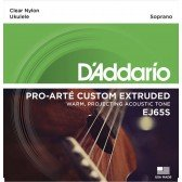 EJ65S Pro-Arte Custom Extruded Комплект струн для укулеле сопрано, D'Addario