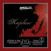KS311W-4/4M Kaplan Solutions Non-Whistling Отдельная струна E/Ми для скрипок 4/4, алюм., D'Addario