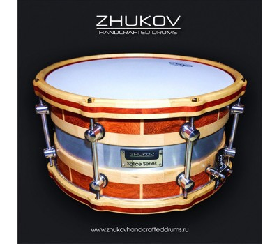 "ZHD-SPLPDK147 Splice Series Малый барабан 14 x 7"", падаук, Zhukov Handcrafted Drums"