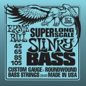 P02849 Super Long Scale Slinky Комплект струн для бас-гитары, 45-105, никель, Ernie Ball