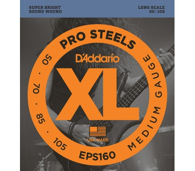 EPS160 ProSteels Комплект струн для бас-гитары, Medium, 50-105, Long Scale, D'Addario