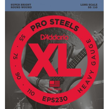 EPS230 ProSteels Комплект струн для бас-гитары, Heavy, 55-110, D'Addario