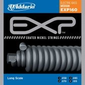 EXP160 Coated Комплект струн для бас-гитары, Medium, 50-105, Long Scale, D'Addario