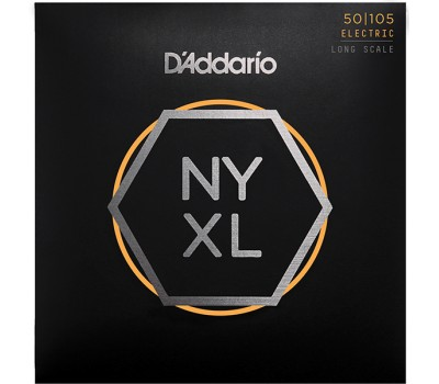 NYXL50105 NYXL Комплект струн для бас-гитары, Long Scale, Medium, 50-105, D'Addario