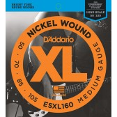 ESXL160 Nickel Wound Комплект струн для бас-гитары, Medium, 50-105, шарик на 2 концах, D'Addario