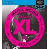 ESXL170 Nickel Wound Комплект струн для бас-гитары, Light, 45-100, шарик на 2 концах, D'Addario