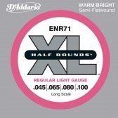 ENR71 Half Rounds Комплект струн для бас-гитары, Regular Light, 45-100, D'Addario