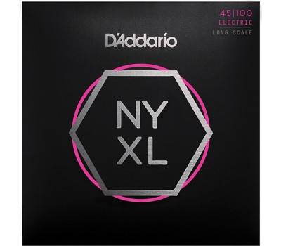 NYXL45100 NYXL Комплект струн для бас-гитары, Long Scale, Regular Light, 45-100, D'Addario