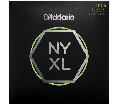 NYXL45105 NYXL Комплект струн для бас-гитары, Long Scale, L Top/Med Bottom, 45-105, D'Addario