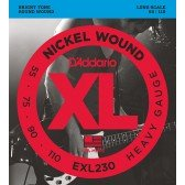 EXL230 XL NICKEL WOUND Струны для бас-гитары Long Heavy 55-110 D`Addario