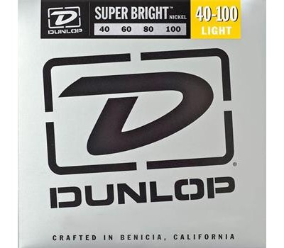 DBSBS40100 Super Bright Комплект струн для бас-гитары, нерж.сталь, Light, 40-100, Dunlop