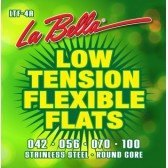 LTF-4A Low Tension Flexible Flats Комплект струн для бас-гитары, сталь, 42-100, La Bella