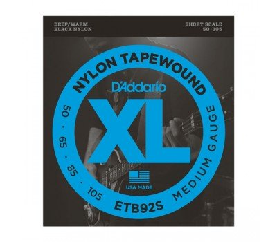 ETB92S Tapewound Комплект струн для бас-гитары, Medium, 50-105, Short Scale, D'Addario