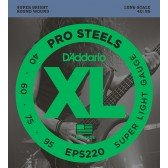 EPS220 ProSteels Комплект струн для бас-гитары, Super Light, 40-95, D'Addario