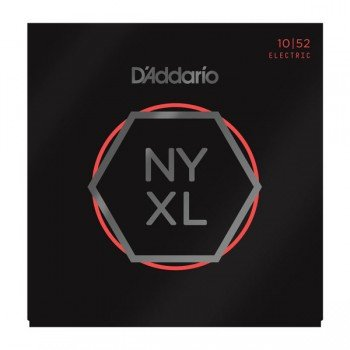 NYXL1052 NYXL Комплект струн для электрогитары, никелирован, L. Top/Heavy Bottom, 10-52, D'Addario