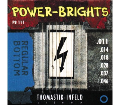 PB111 Power-Brights Regular Bottom Комплект струн для электрогитары, 11-46, Thomastik