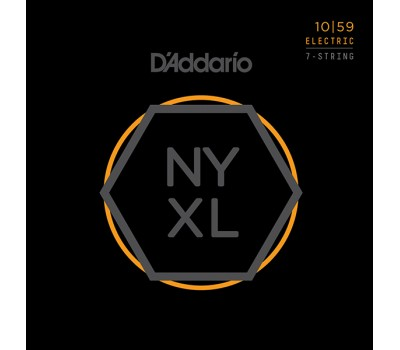 NYXL1059 NYXL Комплект струн для 7-струнной электрогитары, Regular Light, 10-59, D'Addario