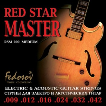 RSM009 Red Star Master Medium Комплект струн для электрогитары, нерж. сплав, 9-42, Fedosov