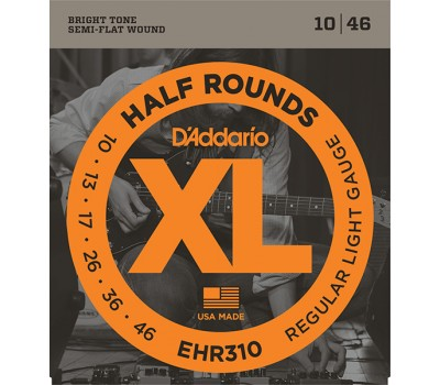 EHR310 Half Round Комплект струн для электрогитары, Regular Light, 10-46, D'Addario