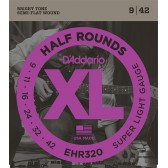 EHR320 Half Round Комплект струн для электрогитары, Super Light, 9-42, D'Addario