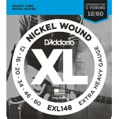 EXL148 XL NICKEL WOUND Струны для электрогитары Extra Heavy 12-60 D`Addario
