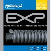 EXP125 COATED NICKEL Струны для электрогитары Super Light Top/Regular Bottom 9-46 D`Addario