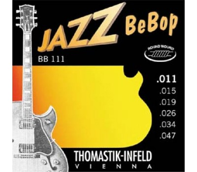 BB111 Jazz BeBob Комплект струн для электрогитары, Еxtra Light, сталь/никель, 11-47, Thomastik