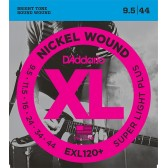 EXL120+ Nickel Wound Комплект струн для электрогитары, Super Light Plus, 9.5-44, D'Addario