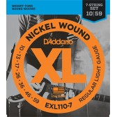 EXL110-7 XL NICKEL WOUND Струны для 7-струнной электрогитары Regular Light 7-string 10-59 D`Addario