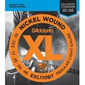 EXL110BT Nickel Wound Комплект струн для электрогитары, Regular Light, 10-46, D'Addario