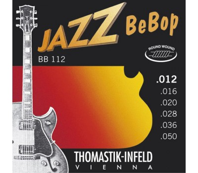 BB112 Jazz BeBob Комплект струн для электрогитары, Light, сталь/никель, 12-50, Thomastik