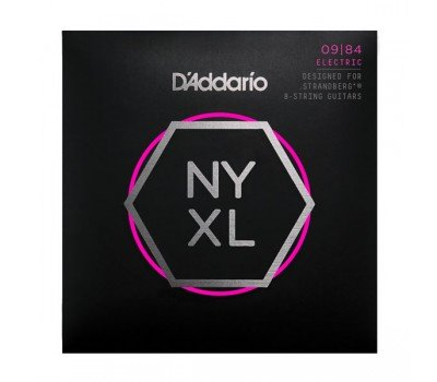 NYXL0984SB NYXL Комплект струн для 8-струнной электрогитары .strandberg*, 9-84, Cm Light, D'Addario