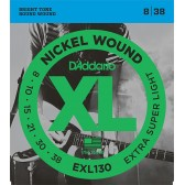 EXL130 XL NICKEL WOUND Струны для электрогитары Extra Super Light 8-38 D`Addario