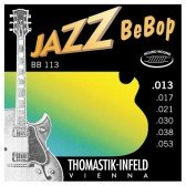 BB113 Jazz BeBob Комплект струн для электрогитары, Medium Light, сталь/никель,13-53, Thomastik