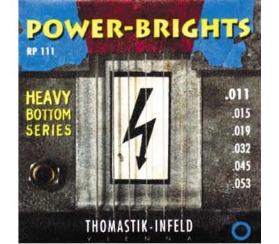 RP111 Power-Brights Heavy Bottom Комплект струн для электрогитары, 11-53, Thomastik