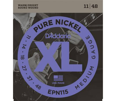 EPN115 XL Pure Nickel Комплект струн для электрогитары, никель, Medium 11-48, D'Addario