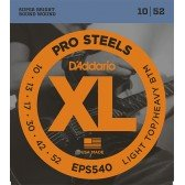 EPS540 XL PRO STEEL Струны для электрогитары Light Top/Heavy Bottom 10-52 D`Addario